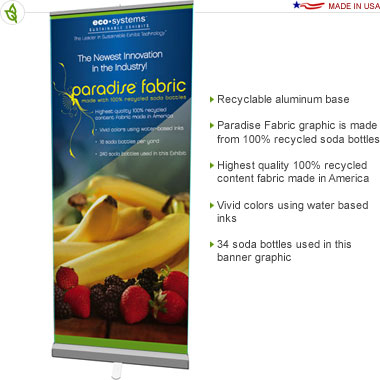 Solar 33 Paradise Retractable Banner Stand